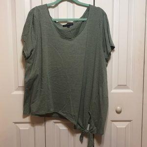 Green Striped T-Shirt NWOT